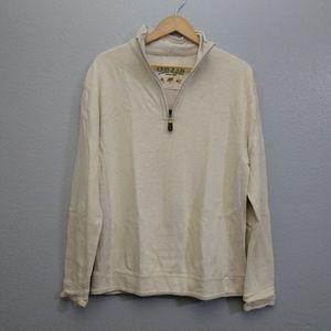 Orvis Medium 1/4 zip Oatmeal pullover sweater